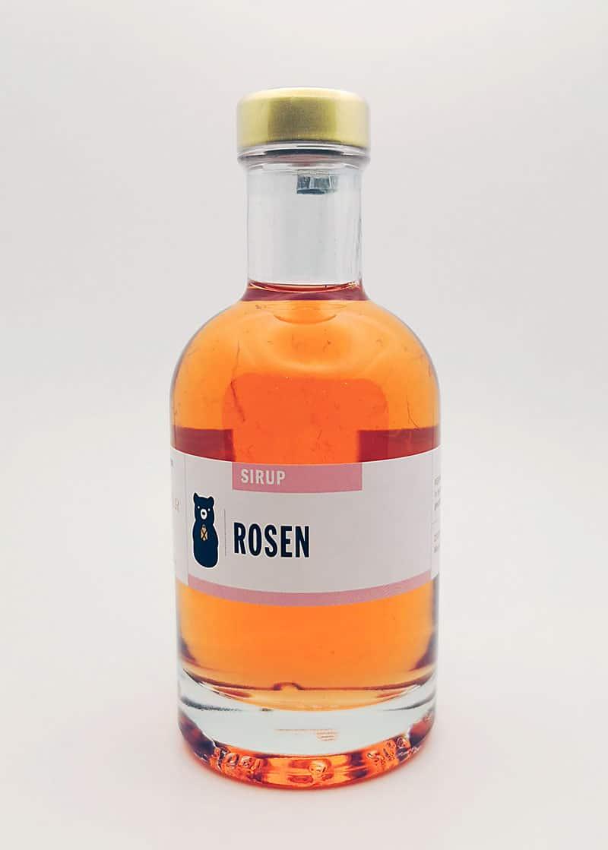 Flasche Rosensirup